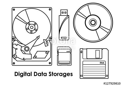 Digital data storages