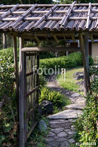 Entrance of a japanese garden