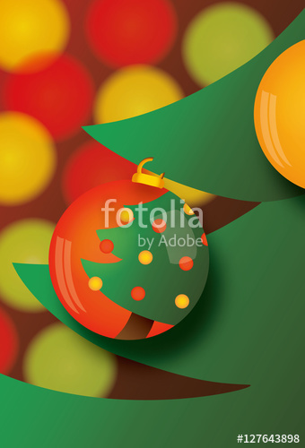 decorate christmas tree vector